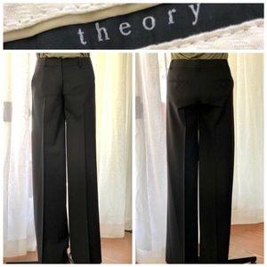 THEORY wide leg black dress pant